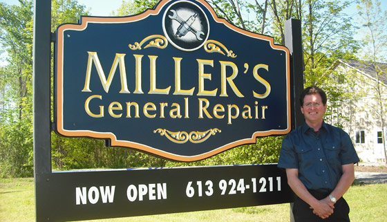 Derek Miller, owner - Miller's General Repair